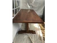 Large Solid Wood Monastery Dining Table With Matching Bench And 4 Chairs Originally From John Lewis