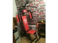 Multi gym for sale red comes complete fitness gym