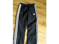Adidas tracksuit bottoms UK YL