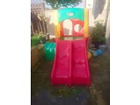 Little tikes twin slide and climbing frame. Used once in perfect condition. Bought for 250.00