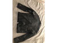 River island men's leather jacket