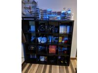 IKEA Kallax 16 Grid Shelving Unit - Black-brown