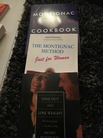 Montignac diet and cookbook and dine out book