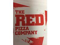 The red pizza company require drivers