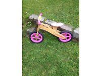 Apollo Wooden Girls Balance Bike