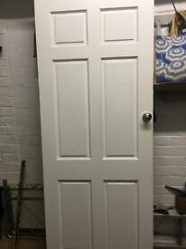 6 wooden doors with hinges and handles