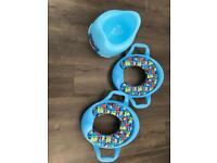Potty and toilet seat trainers set