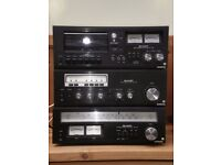 Sharp 1122 stereo system - Turntable,Amplifier,Tape Deck,Tuner. Additional Sharp SA11E receiver.