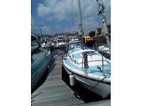 Westerley Centaur sailing yacht. lying Penarth Marina.