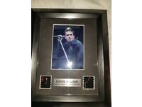 Robbie Williams film cell picture frame