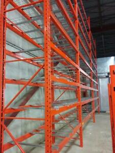 PALLET RACKING, END FRAMES, LOAD BEAMS, WIRE MESH DECKS, SAFETY BARS, SUPPLY AND INSTALL