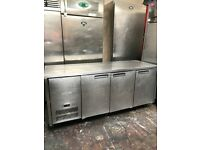 Williams commercial 3 doors under counter bench fridge