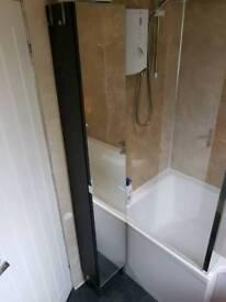Tall Ikea mirrored bathroom Cabinet