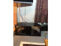for sale black glass tv stand