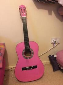 Child's 3/4 guitar with cover excellent condition