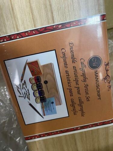 Manuscript Calligraphy Artist Dip Pen Wooden Box Set New