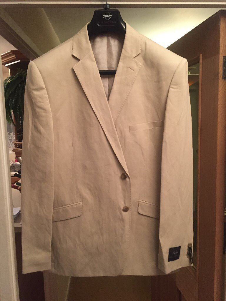 """Mens Paul Costello suit in white size 46"""""""