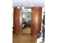 WARDROBE TRIPLE TALL /LARGE QUALITY MIRRORED FREE DELIVERY AND INSTALLATION