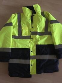 Hi-viz waterproof coat