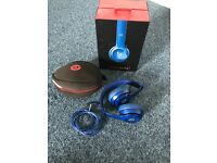 Beats audio solo 2 blue headphones