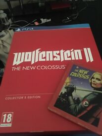 Wolfenstein 2 the new colossus PS4 collectors edition