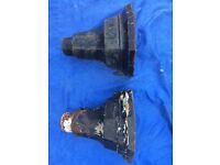 Vintage cast iron rainwater hopper 2 number