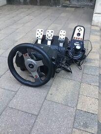 Logitech G27 Steering Wheel, Gear Shifter and Pedal Set