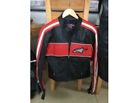 LADIES ALPINE STARS LEATHER MOTORBIKE JACKET