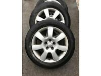 "16"" VW ALLOY WHEEL WITH TYRES 5x112"