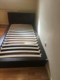 Single bed with edge protectors and IKEA memory foam mattress included