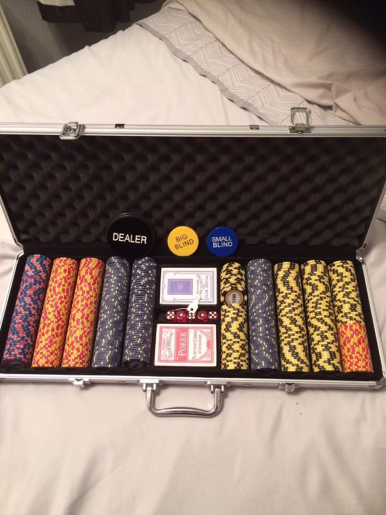 Poker set Monte Carlo Metal Chips Gambling Never Opened