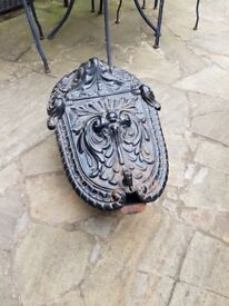 ORNATE CAST IRON VICTORIAN COAL SCUTTLE