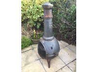 Chimenea fireplace with grill