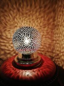 Moroccan Standing light, Boho lighting, Boho chic, Table lamp, Desk Lamp