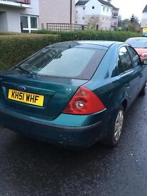 51 Reg Green Ford Mondeo 1.8 Drives Perfect!