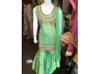 Girls sharara latest fashion small Kidss sizes Asian wedding dress