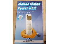 Nearly New - Mobile Mains Power Unit for tent or caravan