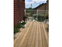 Decking for patio or balcony, plus support timber - 2.5 x 4 mrs