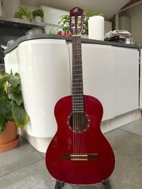 Ortega R121-3/4 WR wine red classical concert guitar gig bag amp music pop rock