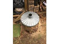 Dustbin incinerator lid Galvanised