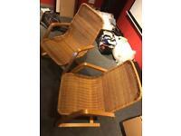 2 ikea wicker chairs