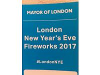 NYE London Fireworks - BLUE AREA. Best viewing area.