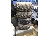 4 quad wheels 19x700-8