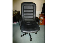 large black office chair