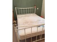 Lovely metal double bed and mattress