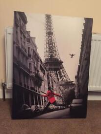 Paris canvas, eifle tower, live mirrored