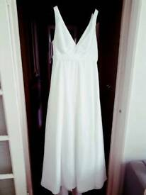 Wedding Dress in white size S, 10