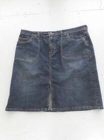Monsoon Denim Skirt Size 16