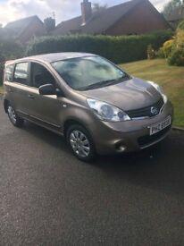 2013 Nissan Note Visia 1.4 Petrol ONLY 16K MILES FULL MOT LADY OWNER