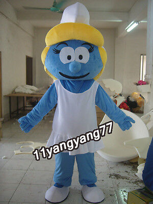 Carnival Mascots Smurfette smurf For Women Costume Adult Sz Cartoon Fancy Dress](Smurf Costumes For Adults)